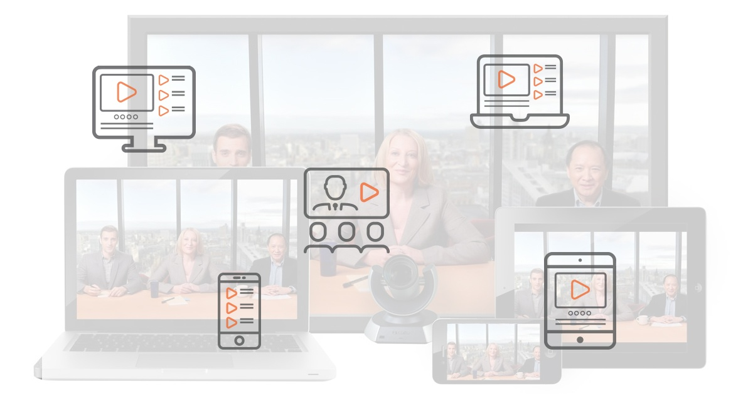 VIDIZMO integration with Polycom RealPresence video conferencing