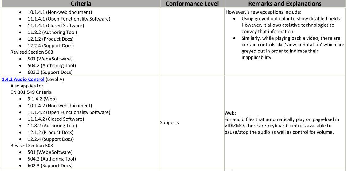 A Screenshot of a VPAT Document