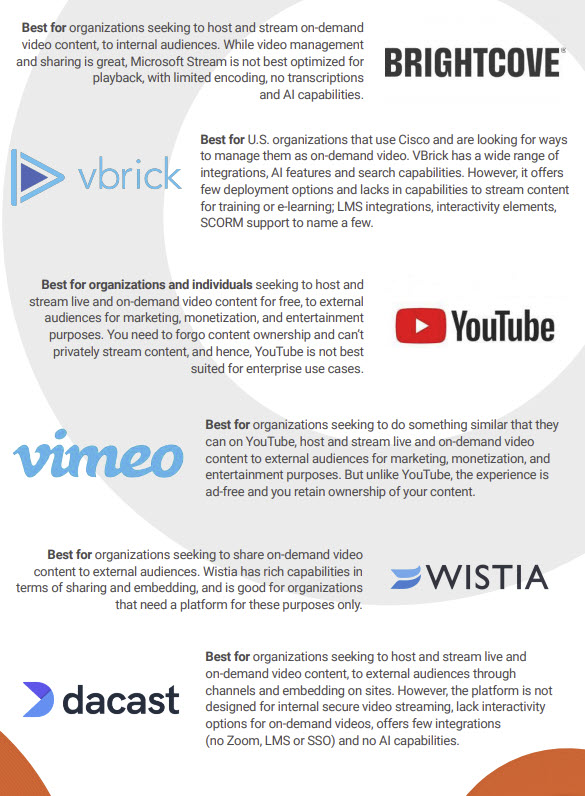 Simple Video Platforms Infographic