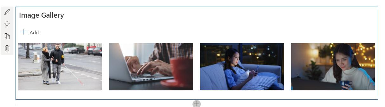 A screenshot of SharePoint Image Webpart