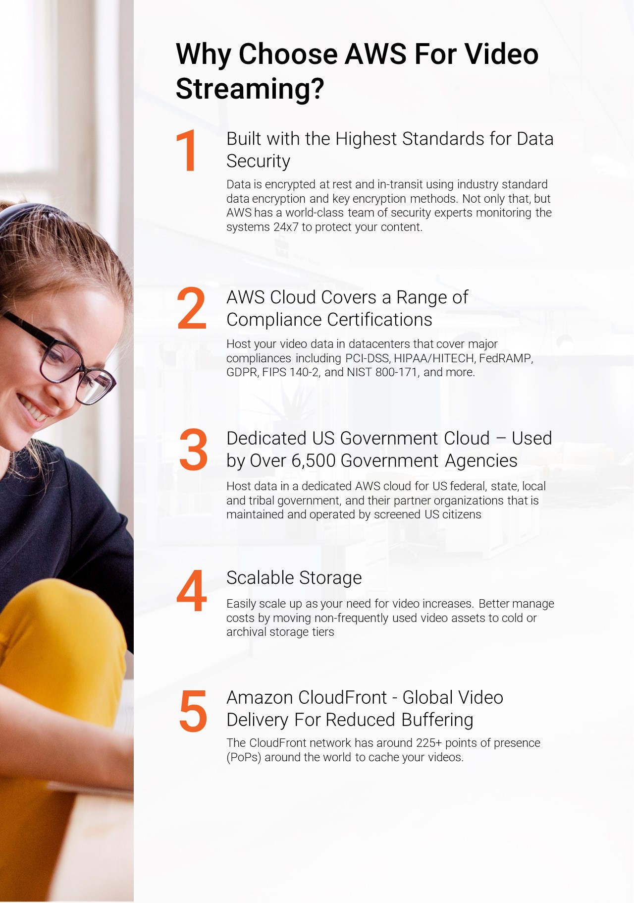 AWS Video Streaming Infographic