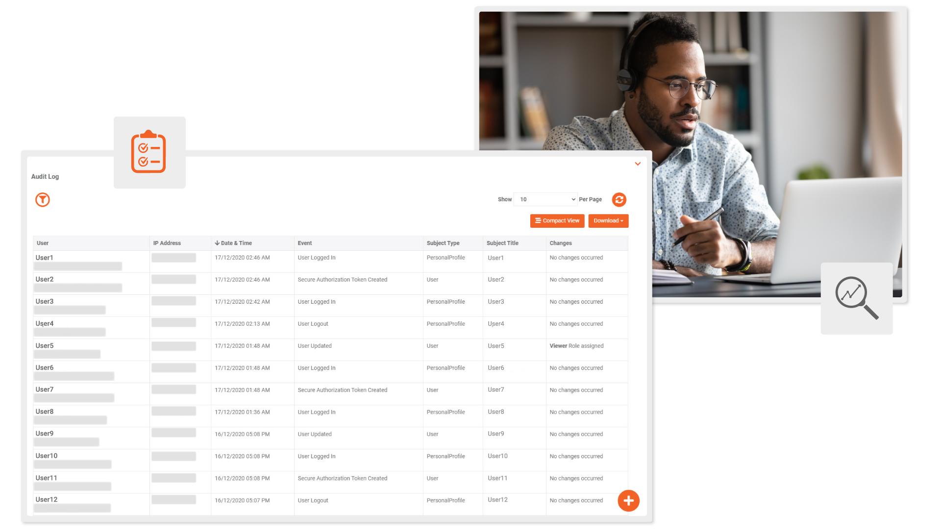 VIDIZMO audit logs for recorded meetings from video conferencing solutions
