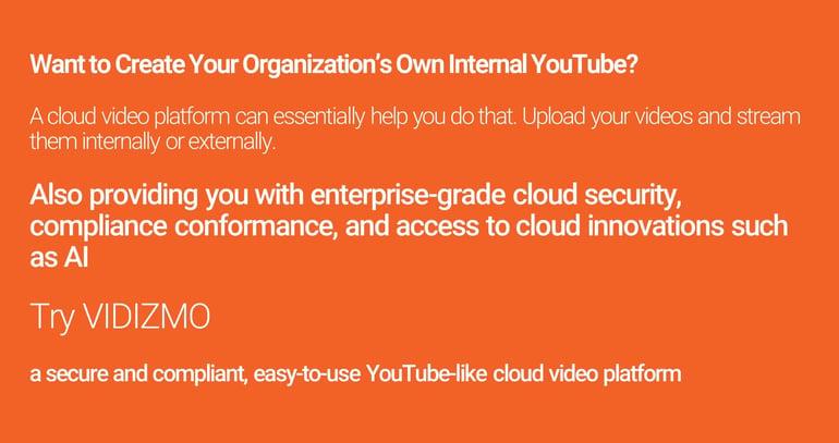 Cloud Video Platform Infographic