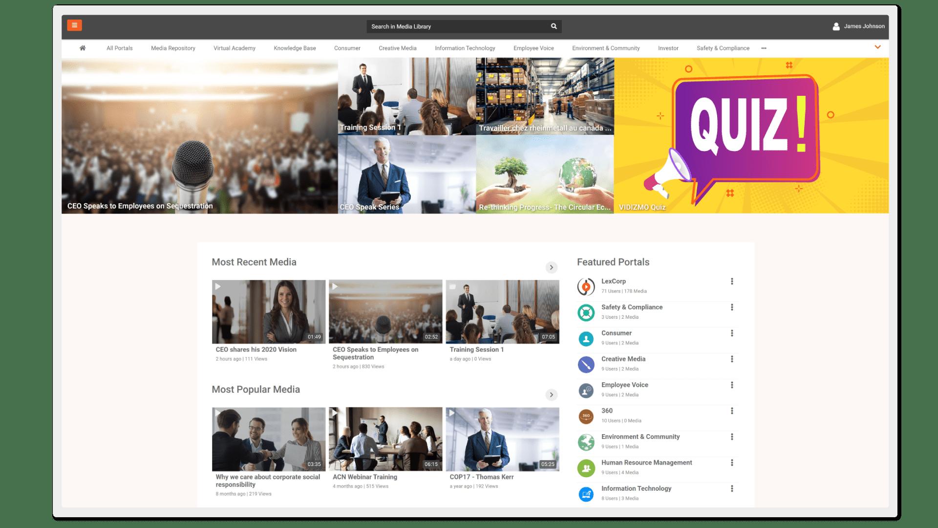VIDIZMO brandable end-to-end enterprise video platform