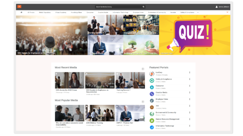 SharePoint video gallery - screenshot of VIDIZMO EnterpriseTube