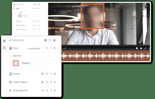 VIDIZMO Redaction tool