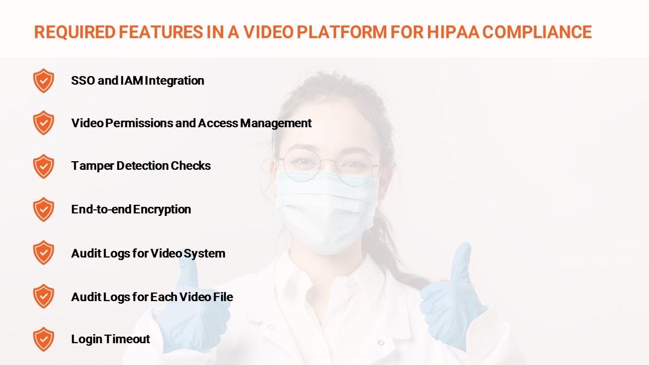 HIPAA Compliant Video Platform Infographic