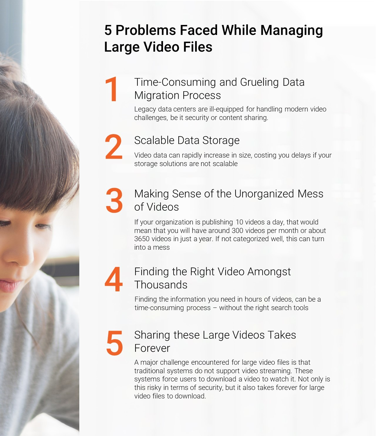 Hosting Large Video Files Infographic