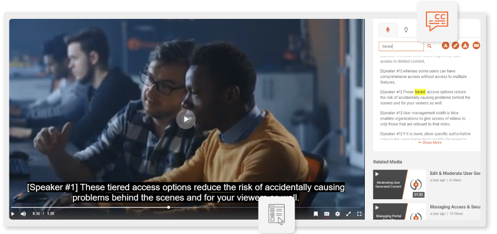 Search-inClosed Captions through Automatic Speech Recognition
