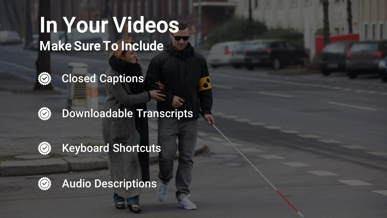 Accessibility Standards for Video Infographic