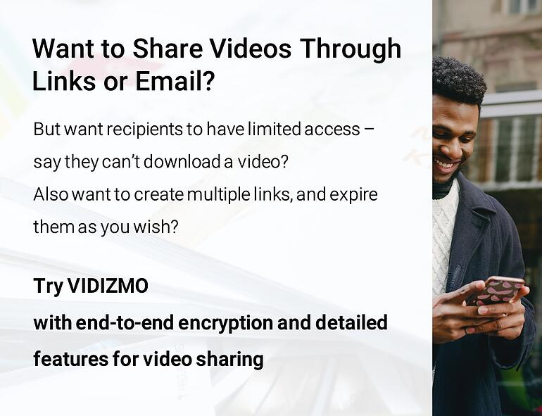 Secure Video Sharing Platform Infographic