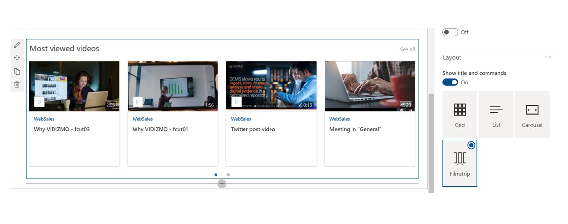 SharePoint video gallery through highlighted content Webpart