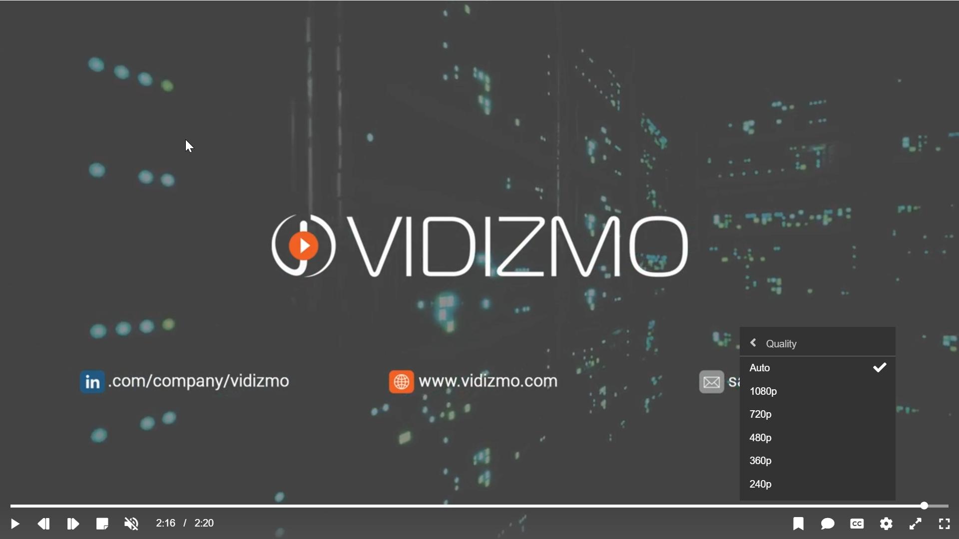 VIDIZMO - Adaptive Bitrate Streaming