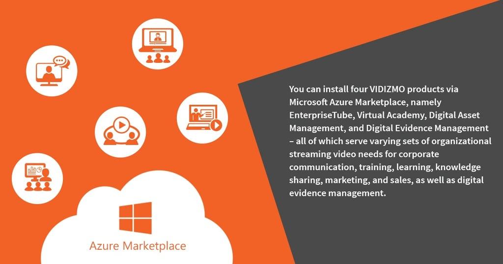 VIDIZMO virtual machine in Microsoft Azure Marketplace