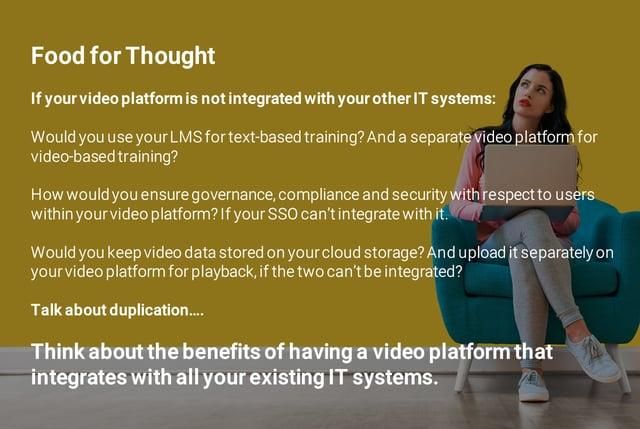 Food For Thought - Integration of VOD Platform