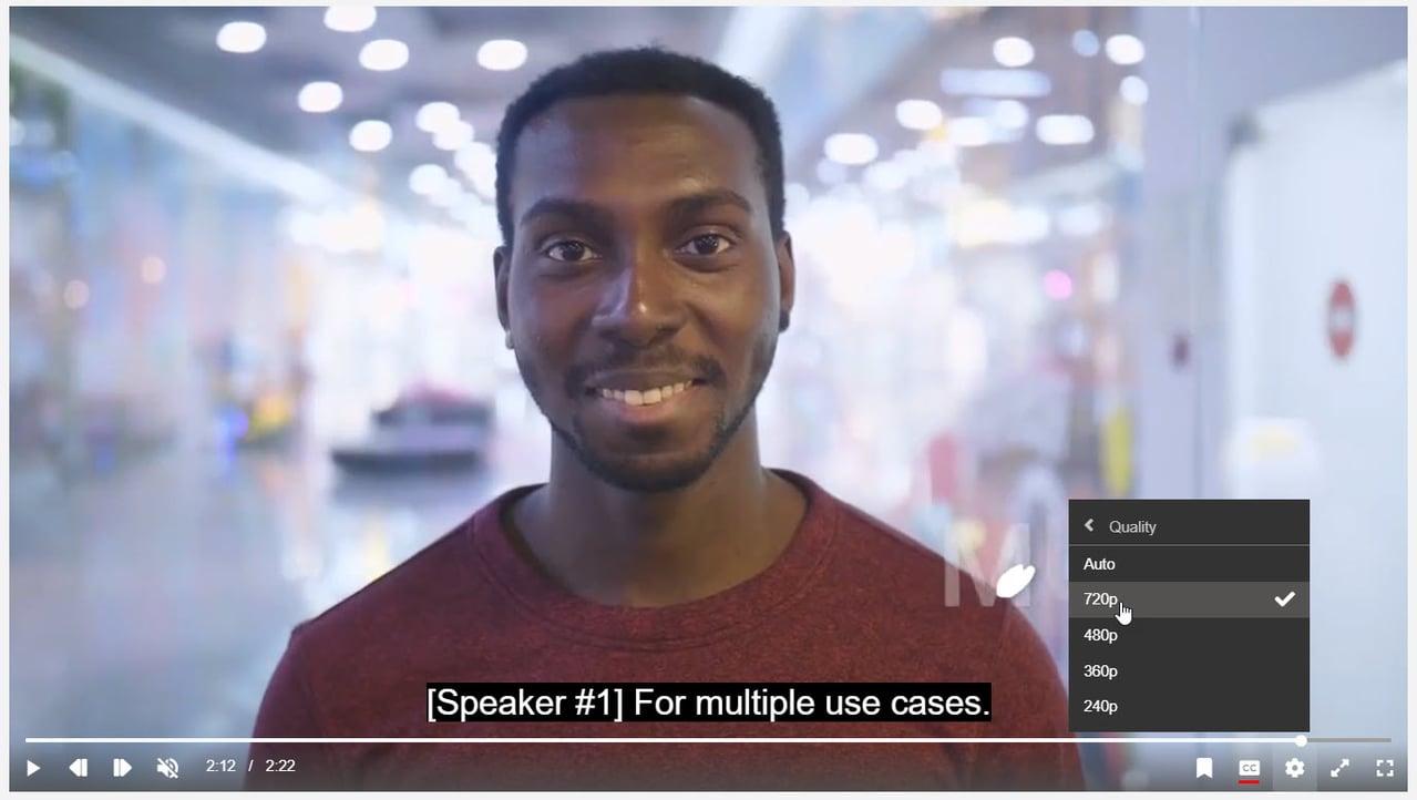A screenshot of VIDIZMO live video streaming platform