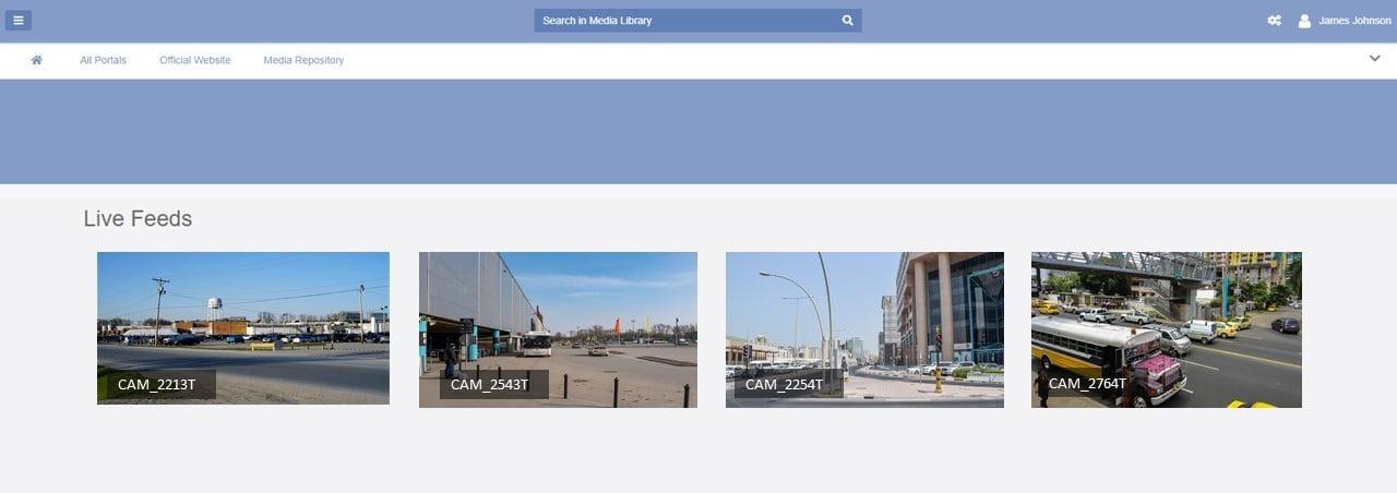 A screenshot of VIDIZMO video management system
