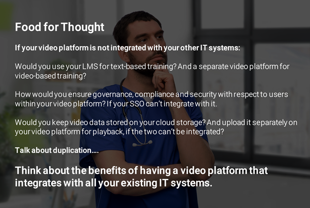 VIDIZMO Video Integrations - Hospitality Training Infographic