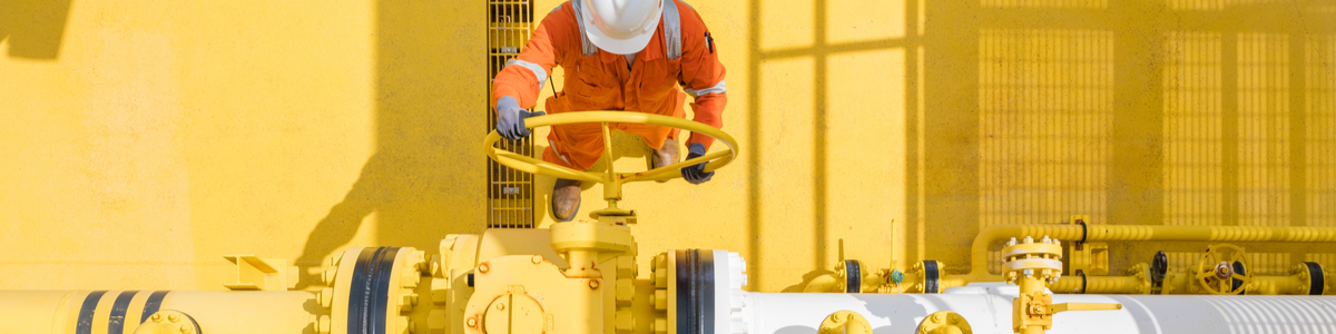 A guy using heavy machinery