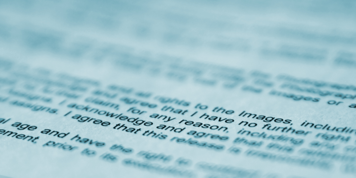 blurred document
