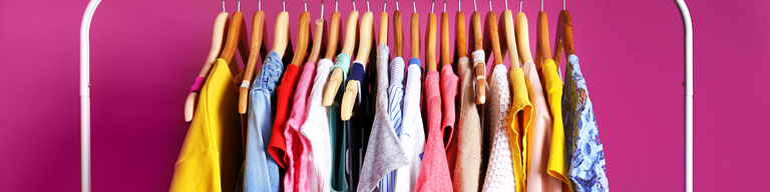 Clothes Hanging at Fashion Retail