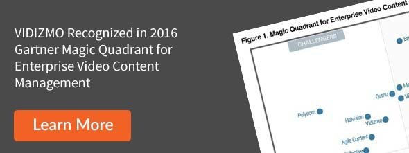 VIDIZMO Recognized in 2016 Gartner Magic Quadrant for Enterprise Video Content Management