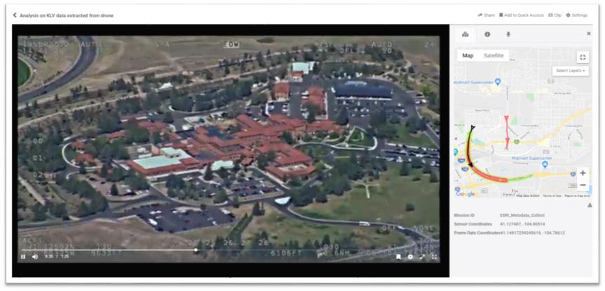 GIS map on VIDIZMO Digital Evidence Management