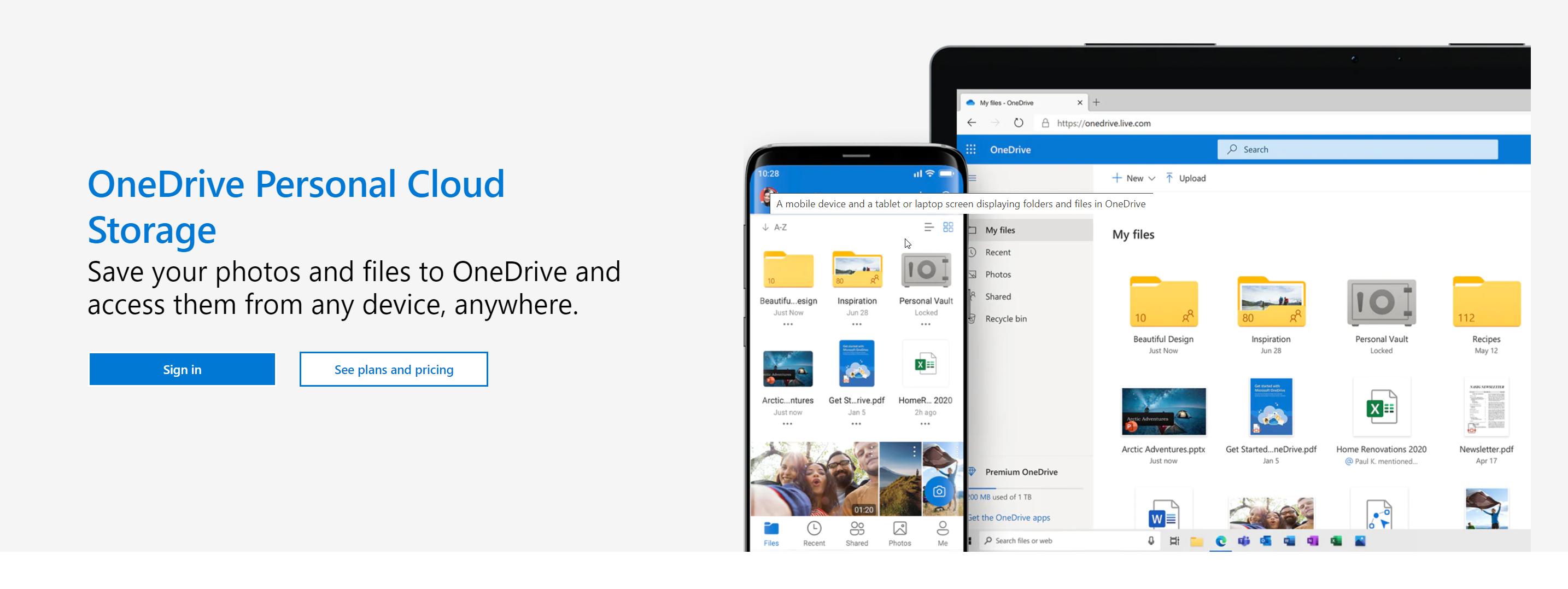 OneDrive - Basic Video Cloud Storage Option