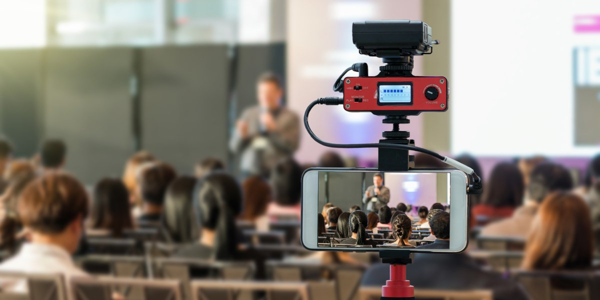 A YouTube live alternative being used to live stream to an audience.