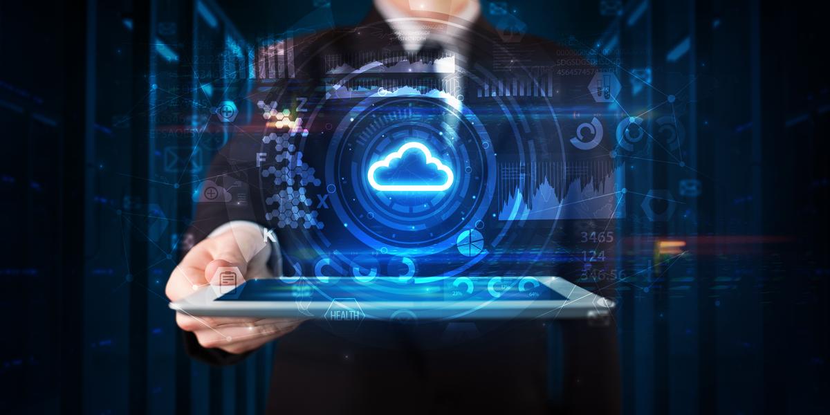 A cloud computing illustration
