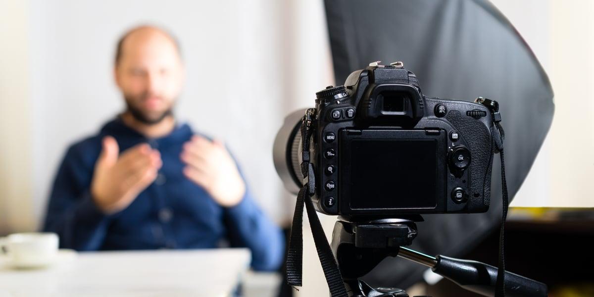 A video capture of a Subject Matter Expert